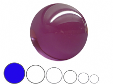 Jac Products Purple Translucent 100mm Acrylic Contact Ball